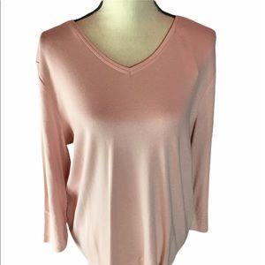 Chico's Pink Cotton Top Size 3 (XL) NWT